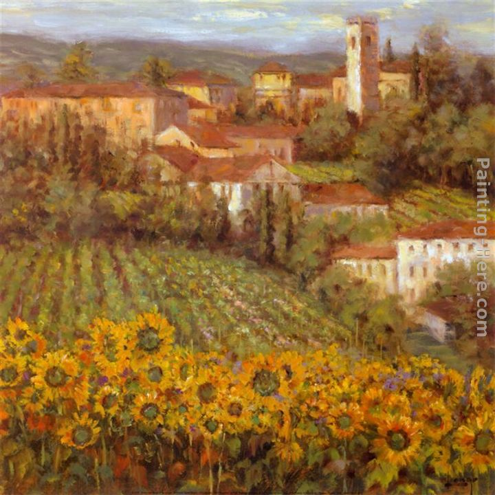 Provencal Village IV painting - Michael Longo Provencal Village IV art painting