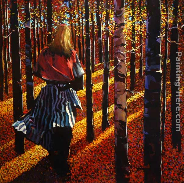 She Walks Among the Black Poplars painting - Michael O'Toole She Walks Among the Black Poplars art painting