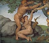 Genesis The Fall and Expulsion from Paradise The Original Sin by Michelangelo Buonarroti