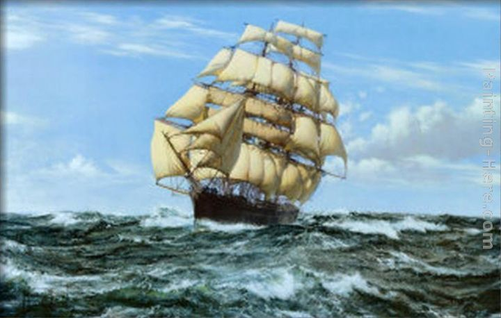 Montague Dawson Racing Home, The Cutty Sark Art Painting
