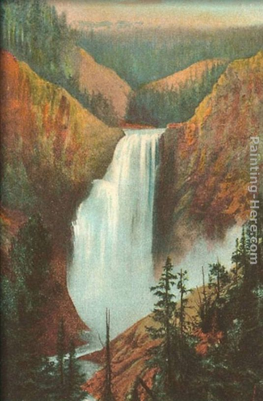 Great Falls, Yellowstone Park, Montana painting - Norman Parkinson Great Falls, Yellowstone Park, Montana art painting