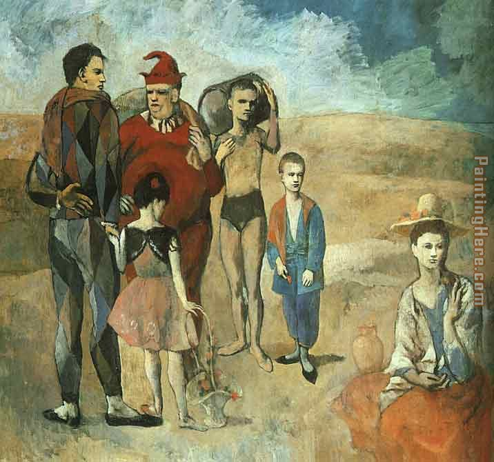 Family at Saltimbanquesc painting - Pablo Picasso Family at Saltimbanquesc art painting