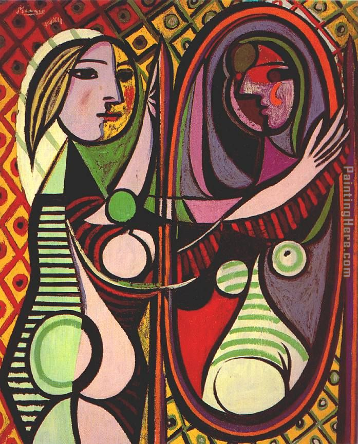 Pablo Picasso Girl Before a Mirror Art Painting