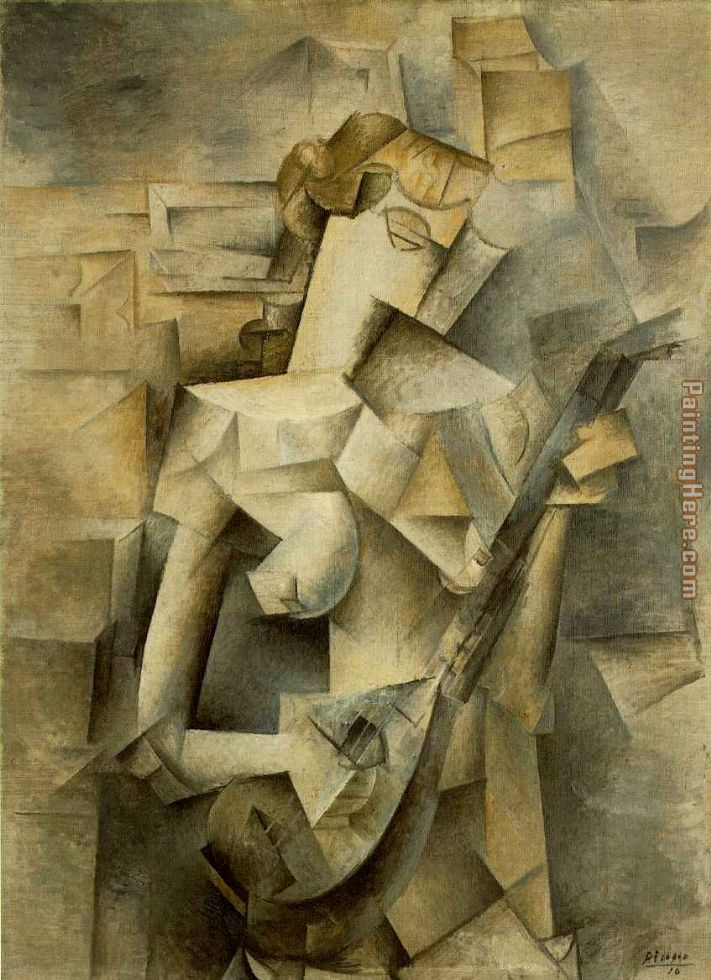 Pablo Picasso Girl with Mandolin Fanny Tellie Art Painting