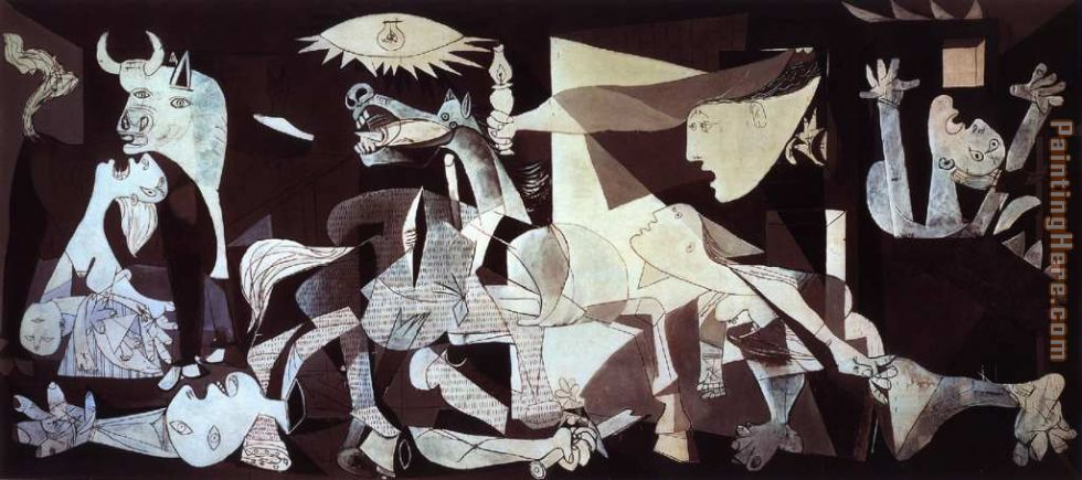 Guernica painting - Pablo Picasso Guernica art painting