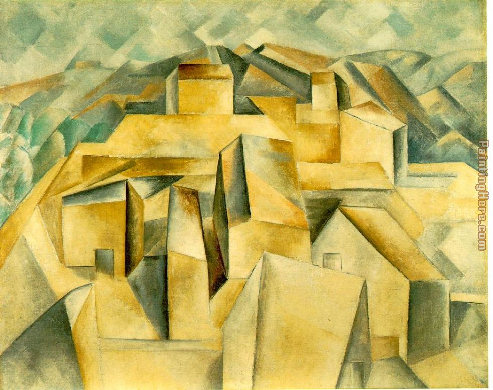 Pablo Picasso Houses on the Hill Horta de Ebro Art Painting