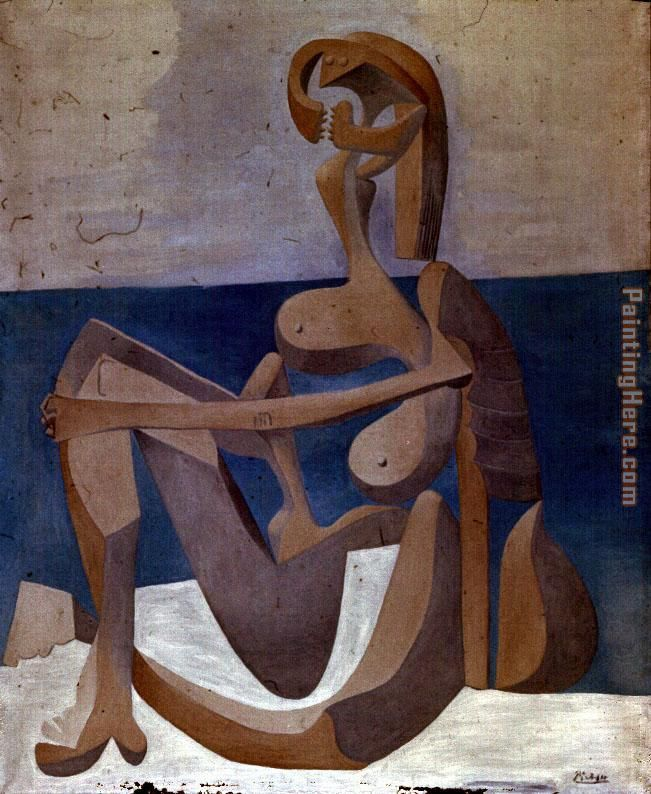 Seated Bather painting - Pablo Picasso Seated Bather art painting