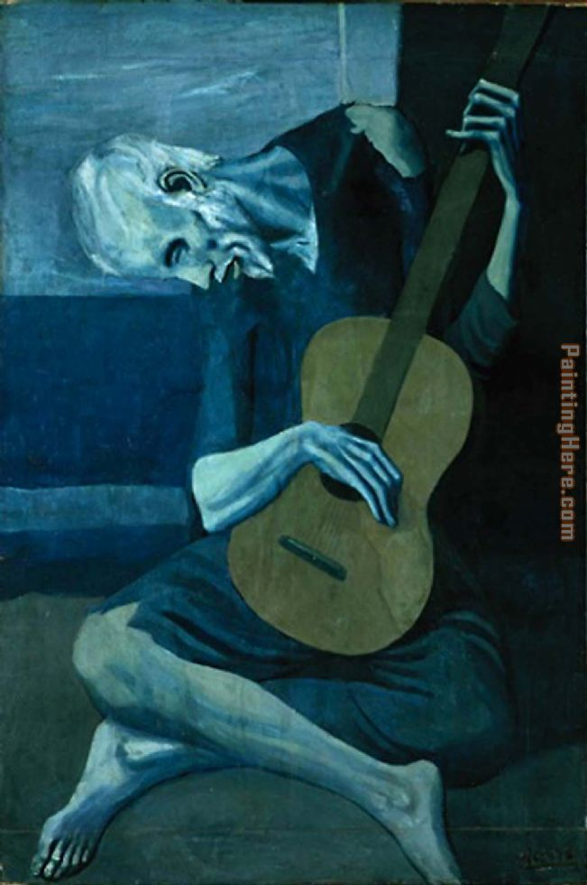 The Old Guitarist painting - Pablo Picasso The Old Guitarist art painting