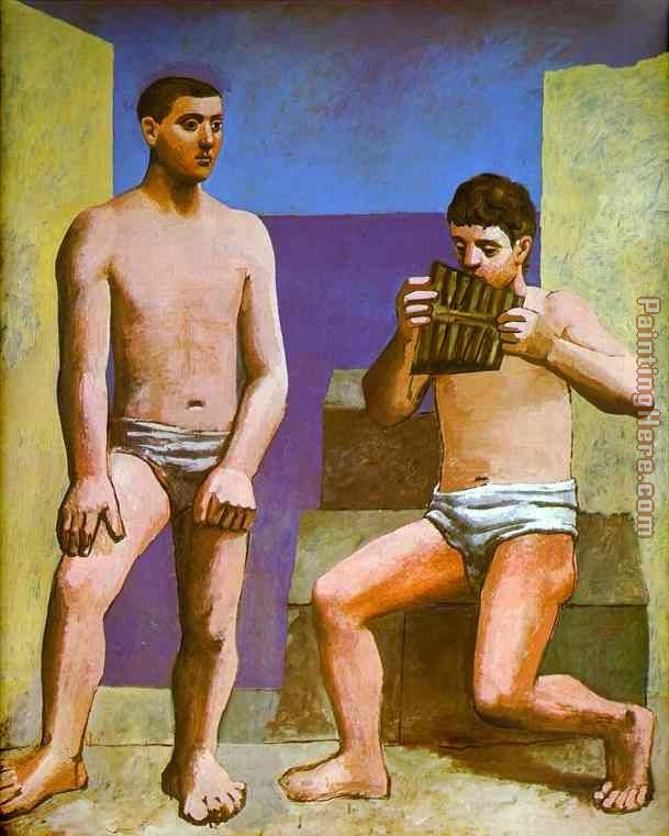 Pablo Picasso The Pipes of Pan Art Painting
