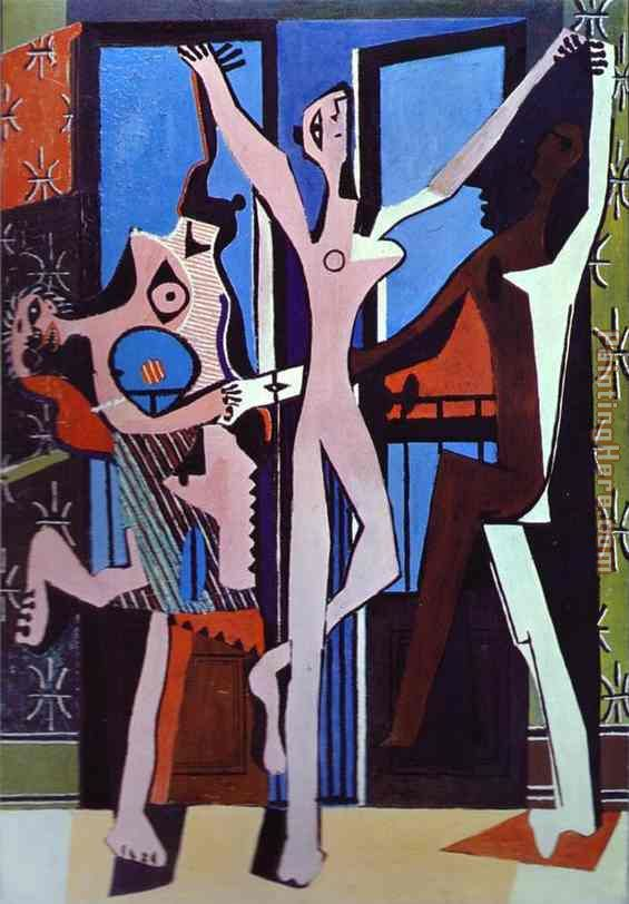 Three Dancers painting - Pablo Picasso Three Dancers art painting