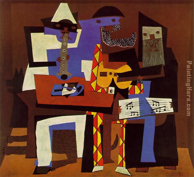 Three Musicians painting - Pablo Picasso Three Musicians art painting