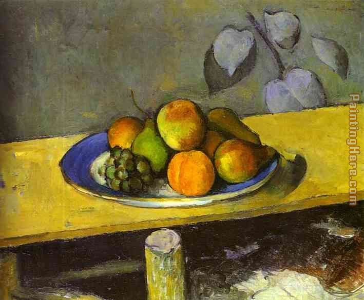 Apples Peaches Pears and Grapes painting - Paul Cezanne Apples Peaches Pears and Grapes art painting