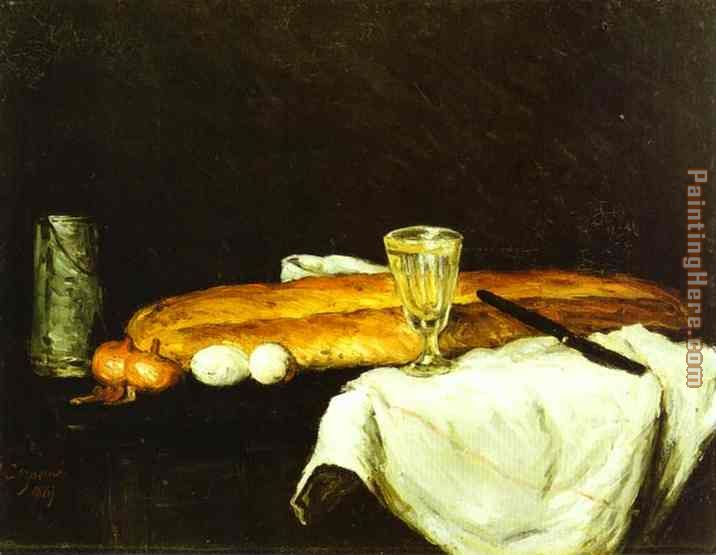 Bread and Eggs painting - Paul Cezanne Bread and Eggs art painting