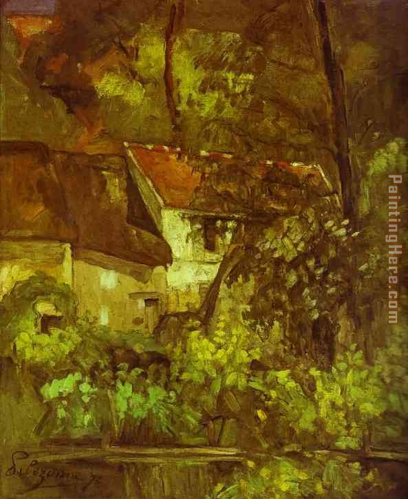 House of Pere Lacroix painting - Paul Cezanne House of Pere Lacroix art painting