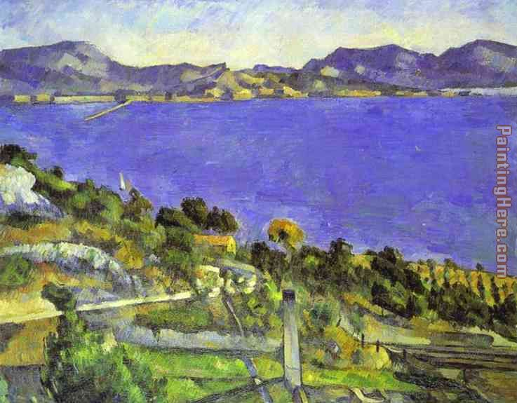L'Estaque painting - Paul Cezanne L'Estaque art painting