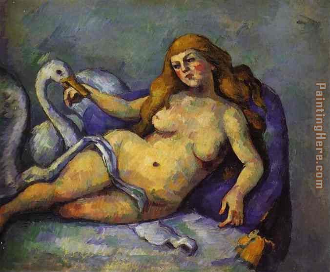 Leda with Swan painting - Paul Cezanne Leda with Swan art painting