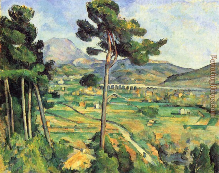 Mount Sainte-Victoire Seen from Bellevue painting - Paul Cezanne Mount Sainte-Victoire Seen from Bellevue art painting