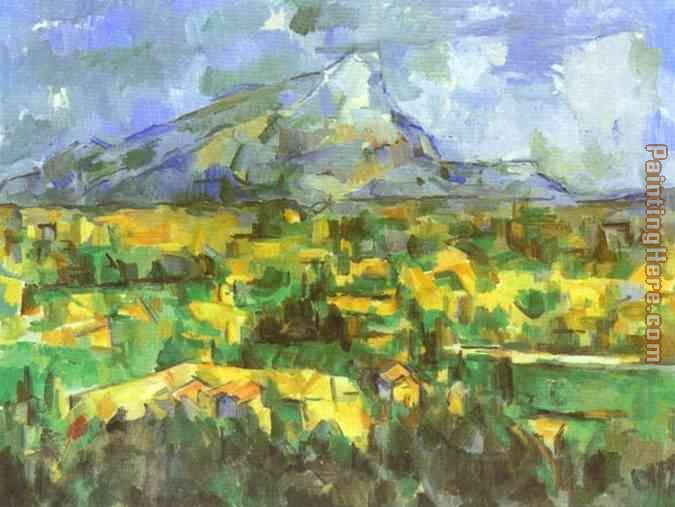 Mount Sainte-Victoire painting - Paul Cezanne Mount Sainte-Victoire art painting