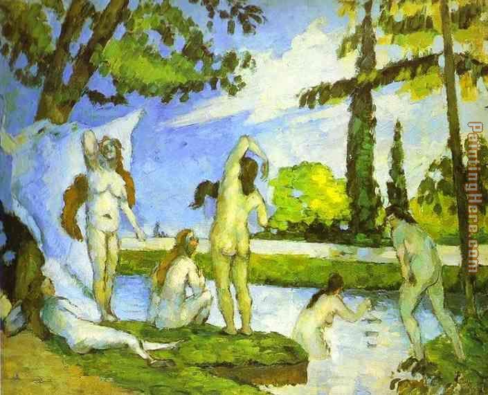 Six Women Bathing Painting