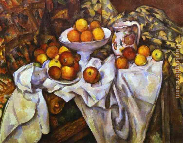 Still Life with Apples and Oranges painting - Paul Cezanne Still Life with Apples and Oranges art painting