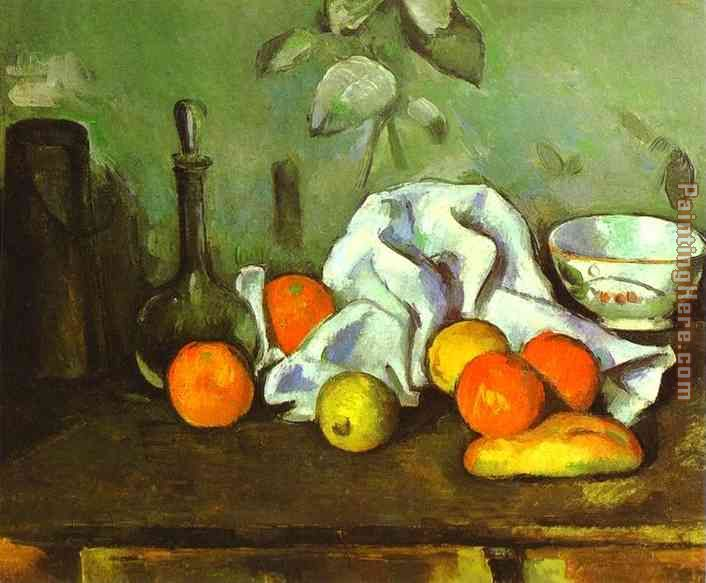 Still Life with Fruit painting - Paul Cezanne Still Life with Fruit art painting
