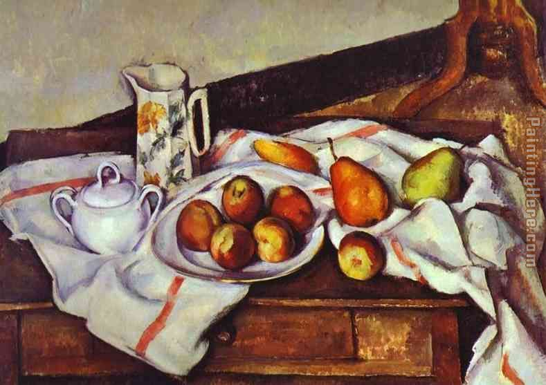 Still Life with Peaches and Pears painting - Paul Cezanne Still Life with Peaches and Pears art painting