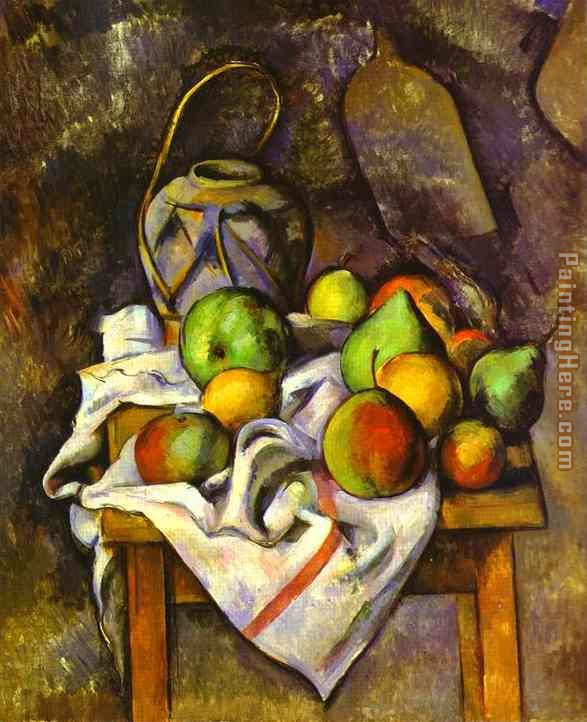Straw Vase painting - Paul Cezanne Straw Vase art painting