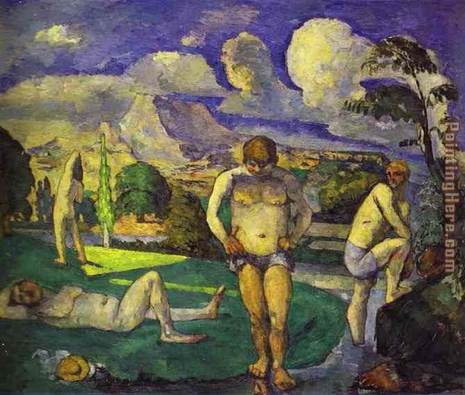 The Bathers Resting painting - Paul Cezanne The Bathers Resting art painting