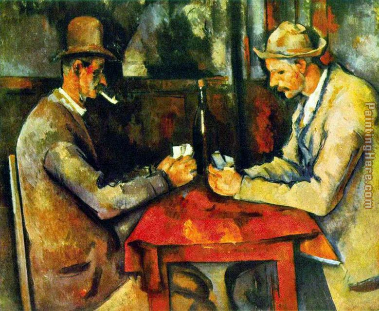 The Card Players painting - Paul Cezanne The Card Players art painting