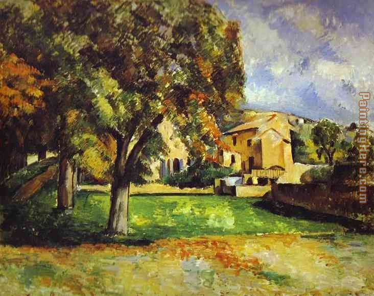 Trees in Park painting - Paul Cezanne Trees in Park art painting