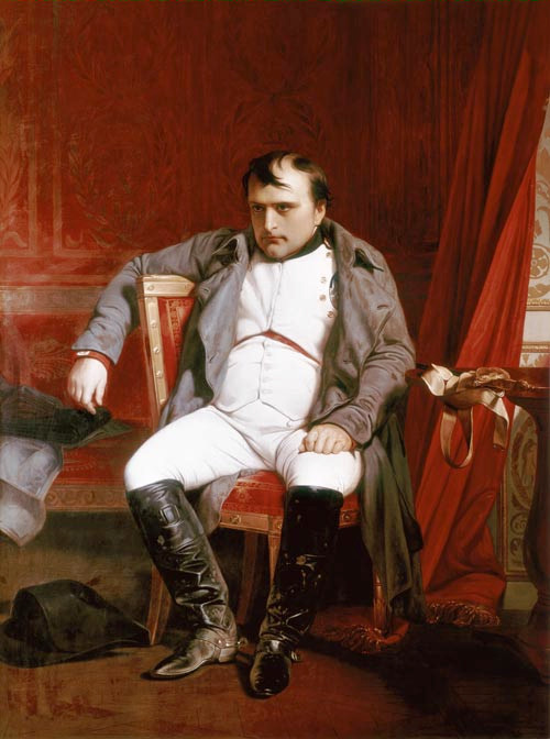 Napoleon Emperor Defeated at Fontainebleau painting - Paul Delaroche Napoleon Emperor Defeated at Fontainebleau art painting
