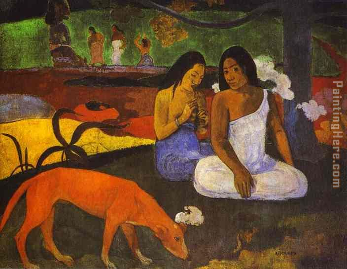 Arearea painting - Paul Gauguin Arearea art painting