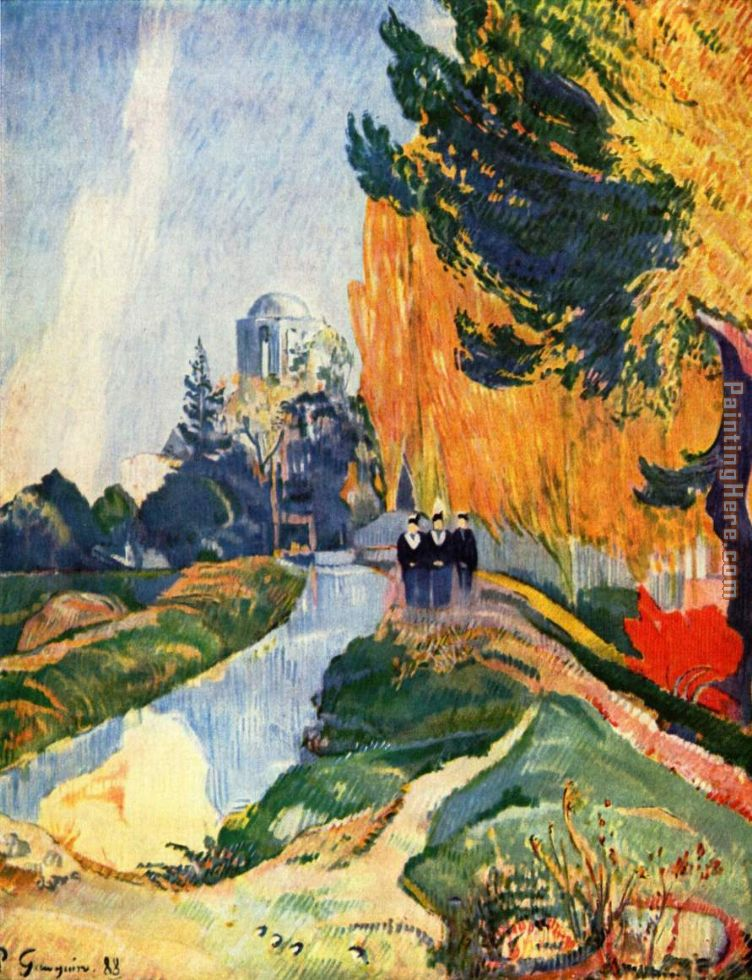 Les Alyscamps painting - Paul Gauguin Les Alyscamps art painting