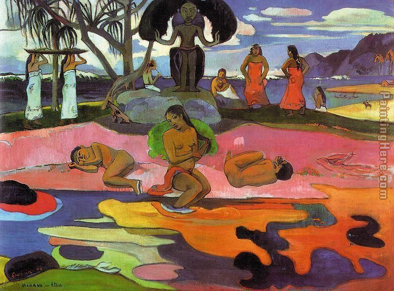 Mahana No Atua painting - Paul Gauguin Mahana No Atua art painting