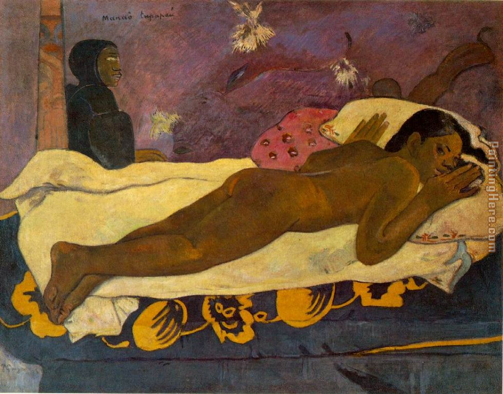 Paul Gauguin Spirit of the Dead Watching Art Painting