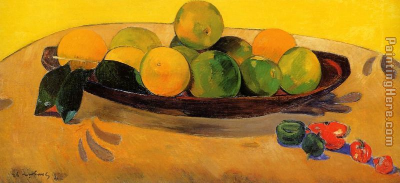 Still Life with Tahitian Oranges painting - Paul Gauguin Still Life with Tahitian Oranges art painting