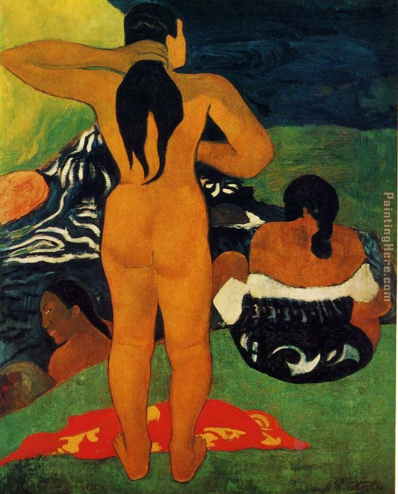 Tahitian Women Bathing painting - Paul Gauguin Tahitian Women Bathing art painting
