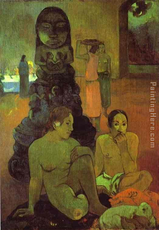 The Great Buddah painting - Paul Gauguin The Great Buddah art painting