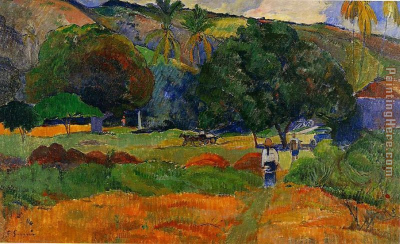 The Little Valley painting - Paul Gauguin The Little Valley art painting