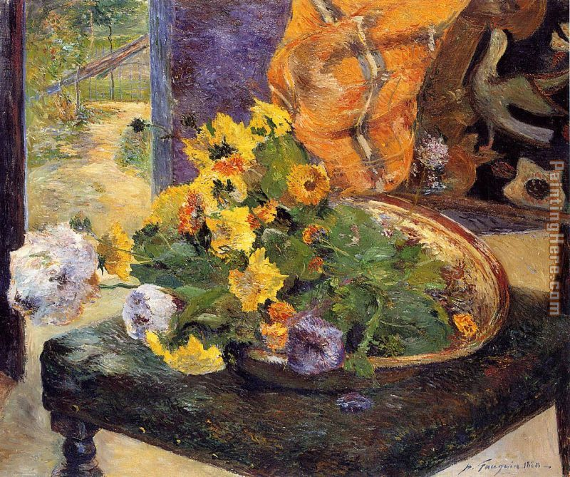Paul Gauguin The Makings of a Bouquet Art Painting