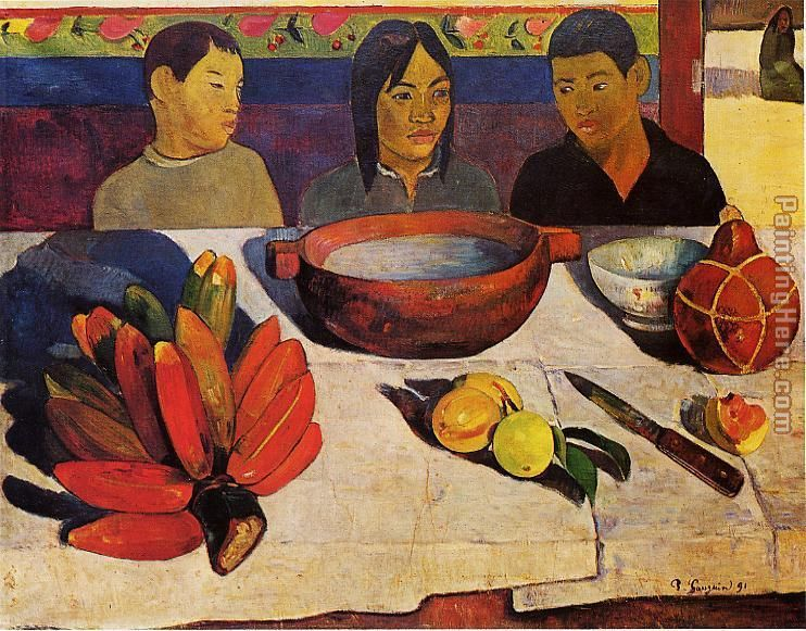 Paul Gauguin The Meal Art Painting
