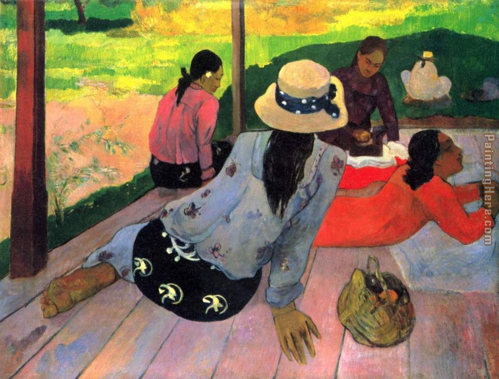 Paul Gauguin The Midday Na Art Painting