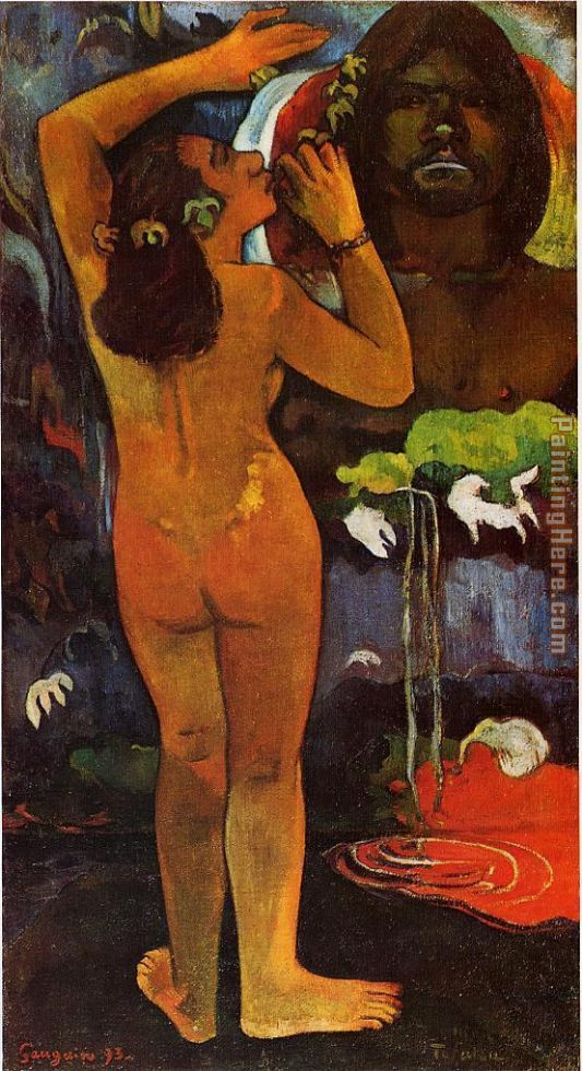 The Moon and the Earth painting - Paul Gauguin The Moon and the Earth art painting