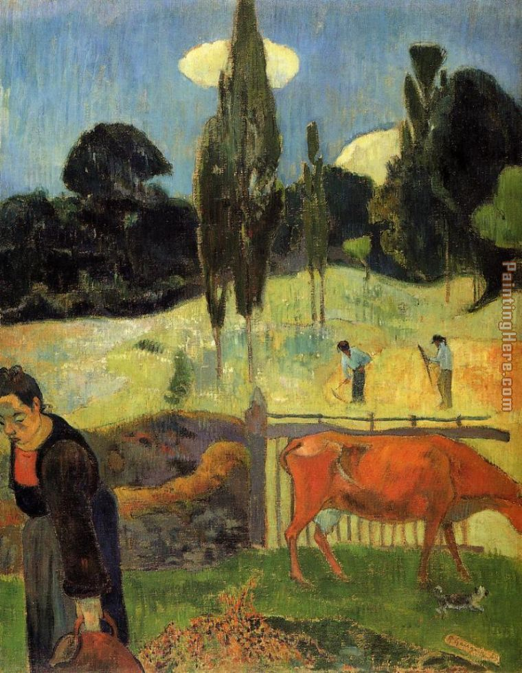 The Red Cow painting - Paul Gauguin The Red Cow art painting