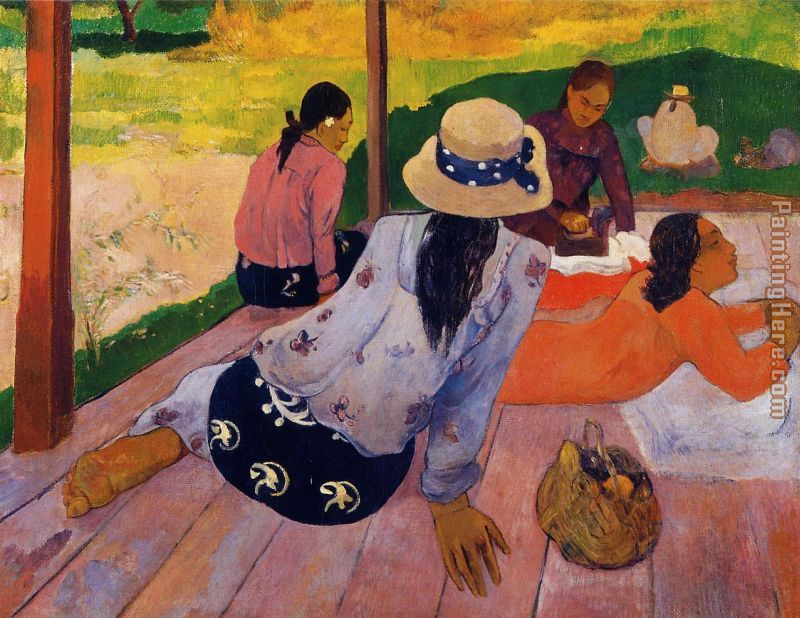 Paul Gauguin The Siesta Art Painting