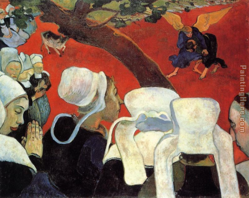 The Vision After the Sermon painting - Paul Gauguin The Vision After the Sermon art painting