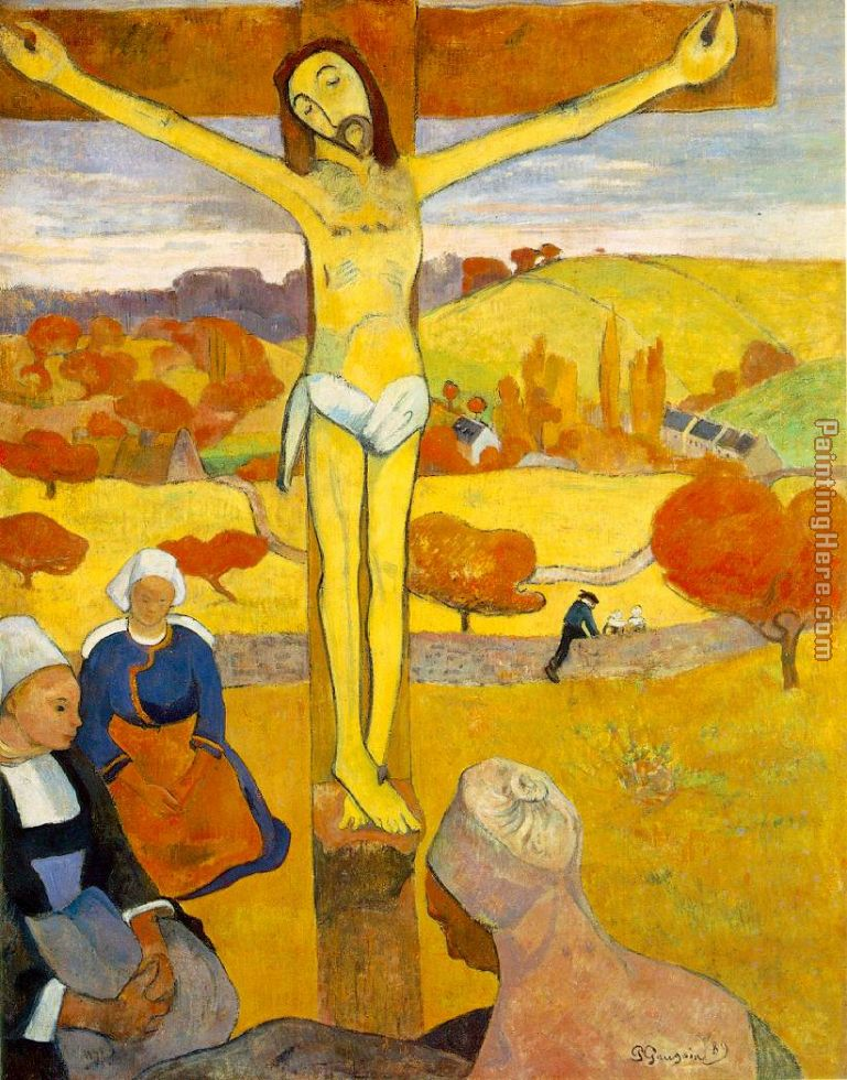 The Yellow Christ painting - Paul Gauguin The Yellow Christ art painting