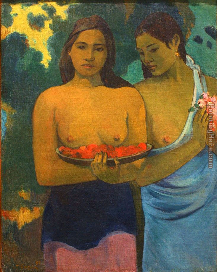 Paul Gauguin Two Tahitian Women Art Painting