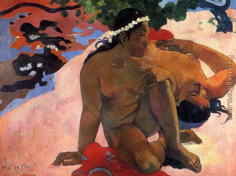 What Are You Jealous painting - Paul Gauguin What Are You Jealous art painting