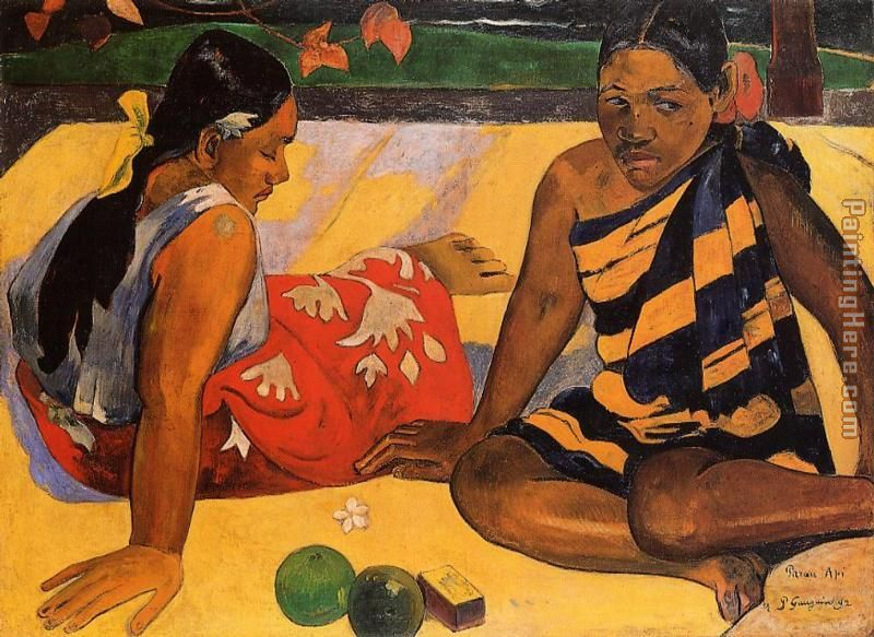 What News painting - Paul Gauguin What News art painting
